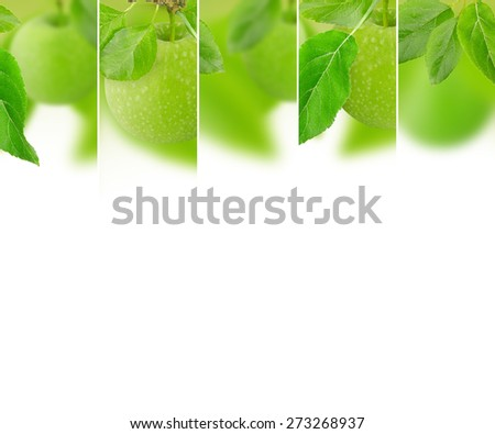 Photo of abstract apple mix with white space for text - stock photo