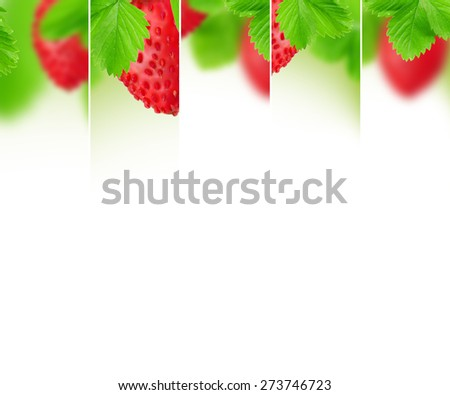 Photo of abstract strawberry mix with white space for text - stock photo