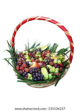 Photo of Basket of fruits - stock photo
