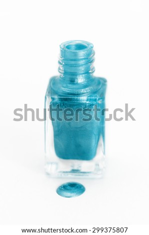 Photo of beautiful colorful nail polish with white background - stock photo