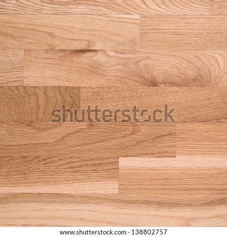 Photo of brown parquet as abstract texture background, top view - stock photo