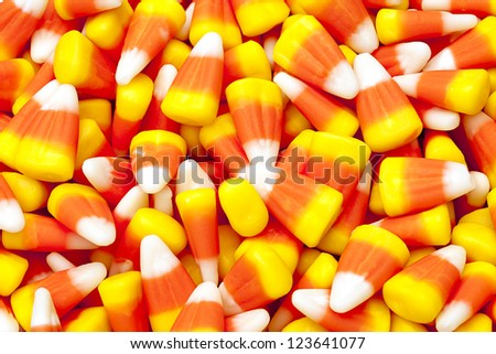 Photo of candy corn that can be use as a background image. - stock photo