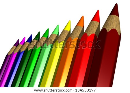Photo of Colored Pencils - 3D - stock photo