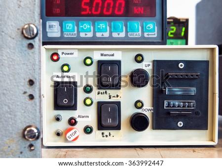 Photo of control box - stock photo