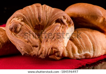 photo of crossaint bread type breakfast - stock photo