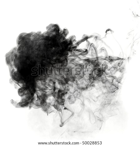 Photo of dense smoke cloud - stock photo