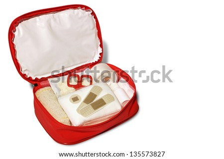 Photo of First Aid kit - stock photo