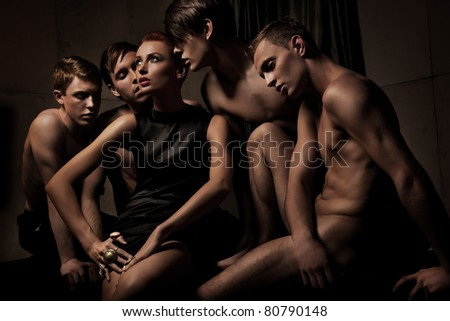 Photo of  group of sexy people - stock photo
