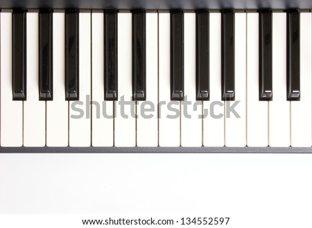 Photo of Learning how to play piano - stock photo