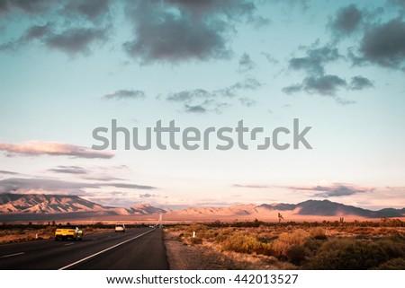 Photo of Mojave Desert near Route 66 in California - stock photo