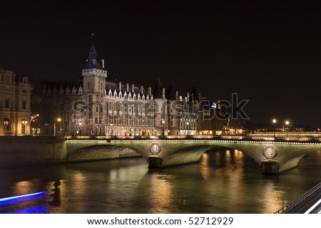 photo of nightview of Bastille Prison in Paris - stock photo