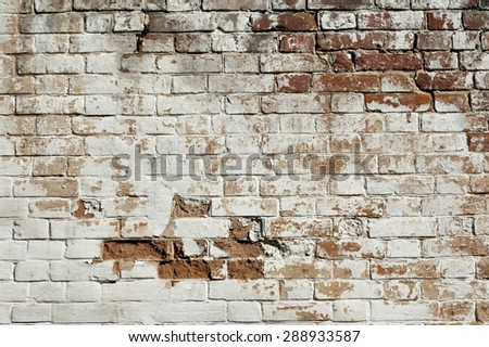 Photo of old brick wall backgrounds. Vintage background. - stock photo