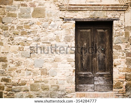 photo of Old wall and door - stock photo