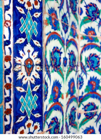 Photo of original Turkish tiles  - stock photo