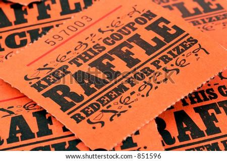 Photo of Raffle Tickets - stock photo