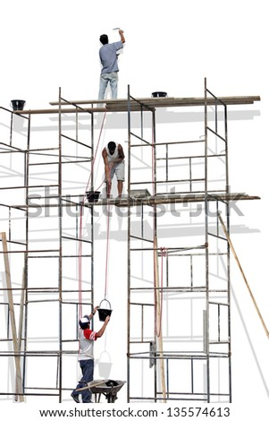 Photo of Scaffold - stock photo