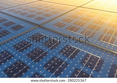 Photo of Solar Panel Texture close up - stock photo