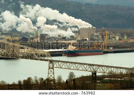 Photo of the beautiful city of Longview, Washington - stock photo