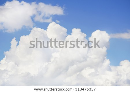 Photo of the Blue Cloudy Sky Background - stock photo