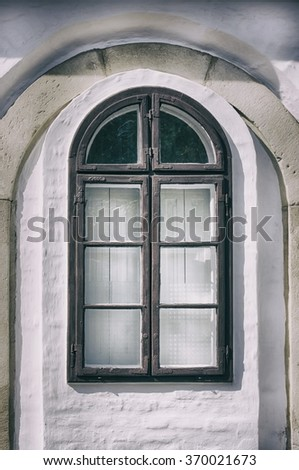 Photo of the Vintage Glass Window - stock photo