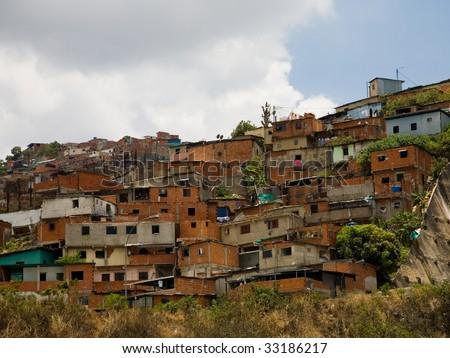 Photo of  venezuela's houses in poor districts - stock photo