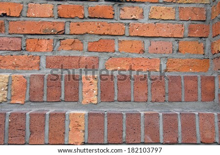 Photo of wall made of brick. - stock photo