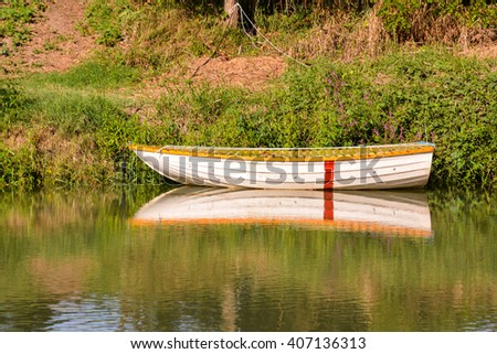Photo Picture of Beautiful  Wild Brenta River in North Italy  - stock photo