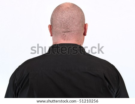 photo portrait close up of a over weight male - stock photo
