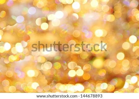 Photo realistic bokeh lights reflection crystal - stock photo