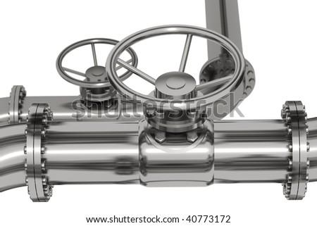 Photo Realistic Pipeline Detail - stock photo