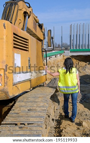 photo showing the construction of a road tunnel - stock photo