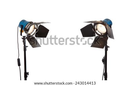 Photo studio lighting equipment - stock photo