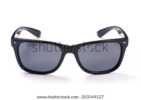 photo sunglasses classical model for men on a white background - stock photo