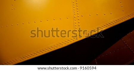 Photo taken at Point Cook Air Museum (Melbourne, Australia) featuring the float of a seaplane, including construction detail. - stock photo