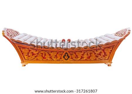 Photo Thailand xylophone on white background. - stock photo