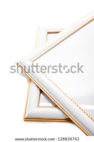 Photoframe isolated on white background - stock photo