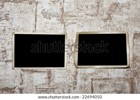 Photoframe  on the wall. - stock photo