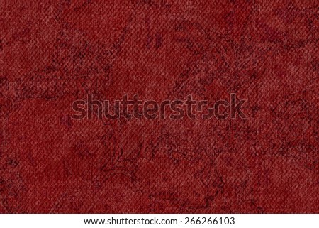 Photograph of Artist Wine Red Primed Cotton Duck Canvas coarse, bleached, mottled, grunge texture. - stock photo