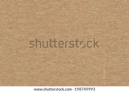 Photograph of recycle brown corrugated, coarse grain cardboard, grunge texture sample - stock photo