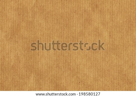 Photograph of recycle brown kraft striped paper coarse grain grunge texture sample - stock photo