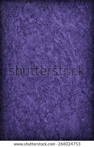Photograph of Recycle Striped Deep Violet Pastel Paper, bleached, mottled, coarse grain, vignette grunge texture sample. - stock photo