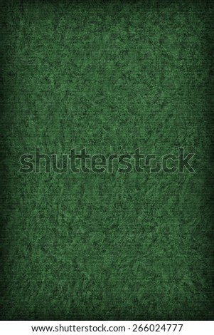 Photograph of Recycle Striped Jade Green Pastel Paper, bleached, mottled, coarse grain, vignette grunge texture sample. - stock photo