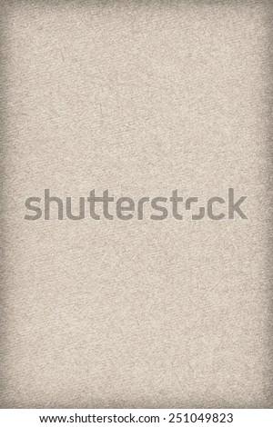 Photograph of Recycle Watercolor Paper, coarse grain, Beige, vignette, grunge texture sample. - stock photo