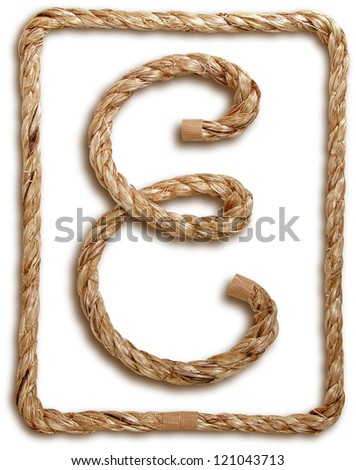 Photograph of Rope Letter E - stock photo