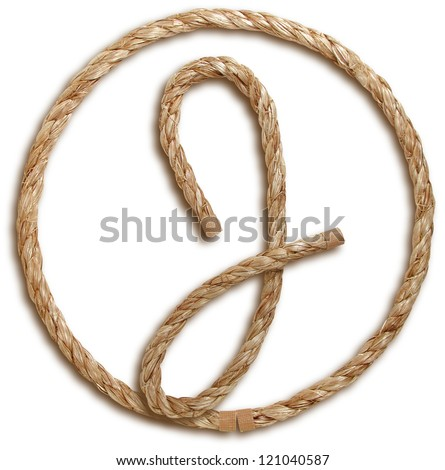 Photograph of Rope Letter J - stock photo
