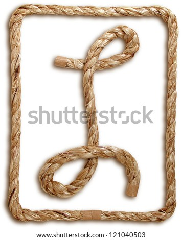 Photograph of Rope Letter L - stock photo