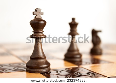 Photographed on a chess board - stock photo