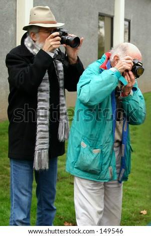 Photographer Duo - stock photo