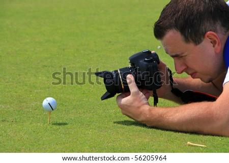 Photographer man - stock photo