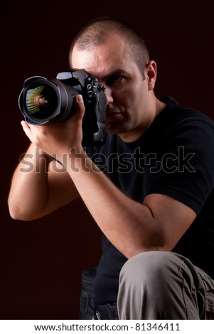 photographer portrait - stock photo